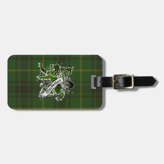 MacArthur Tartan Lion Luggage Tag