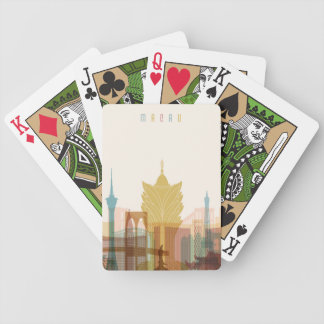 Macau, China | City Skyline Bicycle Playing Cards