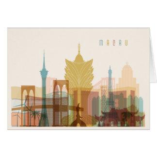 Macau, China | City Skyline Card