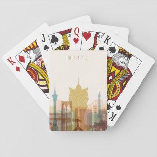 Macau, China | City Skyline Playing Cards