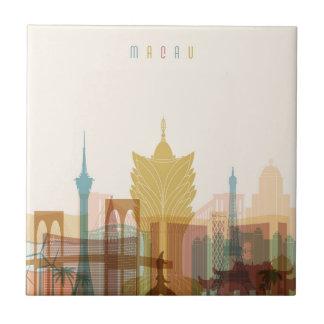 Macau, China | City Skyline Tile