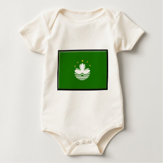 Macau (China) Flag Baby Bodysuit