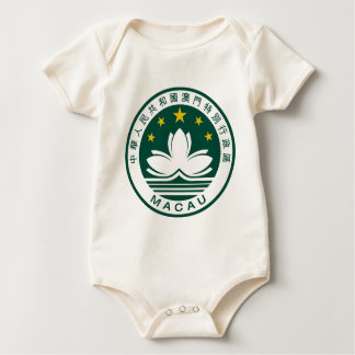 Macau (China) National Emblem Baby Bodysuit