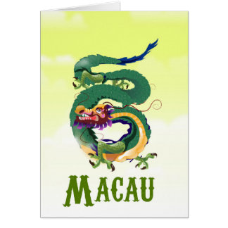 Macau China Vintage style travel poster Card