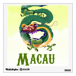 Macau China Vintage style travel poster Wall Sticker