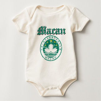 Macau coat of arms designs baby bodysuit