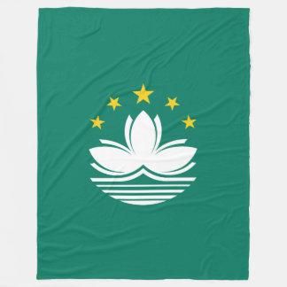 Macau Flag Fleece Blanket