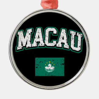 Macau Flag Metal Ornament