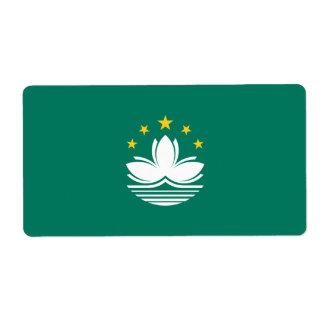 Macau Flag Shipping Label