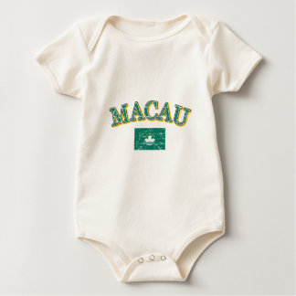 Macau football design baby bodysuit