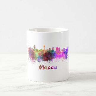 Macau skyline in watercolor coffee mug