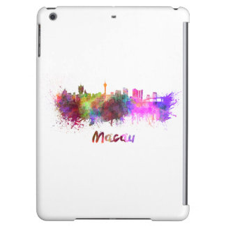 Macau skyline in watercolor cover for iPad air