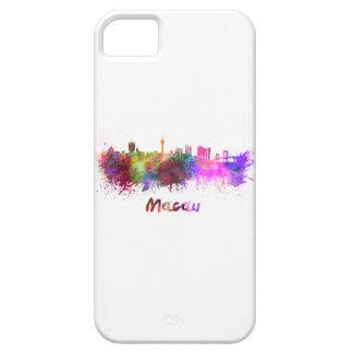 Macau skyline in watercolor iPhone 5 case