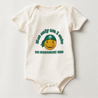 Macau smiley flag designs baby bodysuit