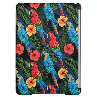 Macaw And Hibiscus Pattern Cover For iPad Air