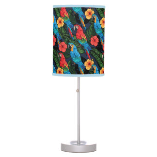 Macaw And Hibiscus Pattern Desk Lamp