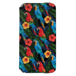 Macaw And Hibiscus Pattern Incipio Watson™ iPhone 6 Wallet Case