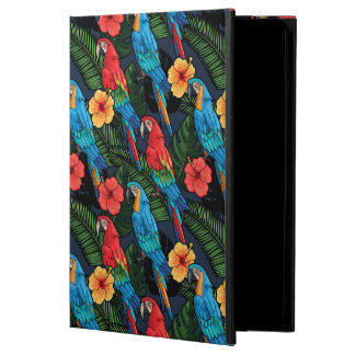 Macaw And Hibiscus Pattern iPad Air Covers