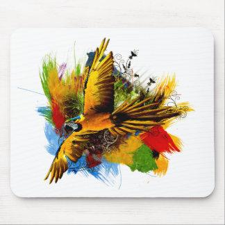 Macaw bird mousepad
