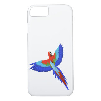 Macaw in flight iPhone 7 case