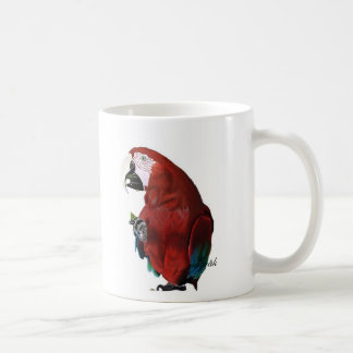 Macaw on a cup