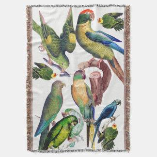 Macaw Parrot Bird Lovers Animals Throw Blanket