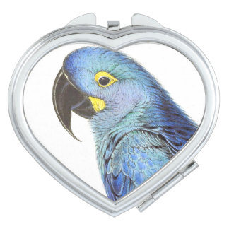 Macaw Parrot Bird Wildlife Animal Compact Mirrors For Makeup