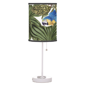 Macaw Parrot Bird Wildlife Leaves Table Lamp