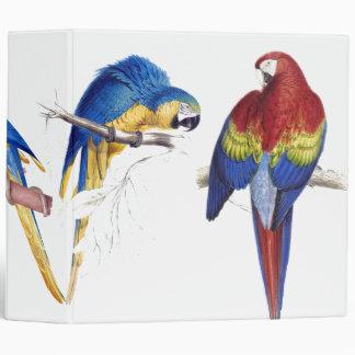 Macaw Parrot Birds Animal Wildlife Binder