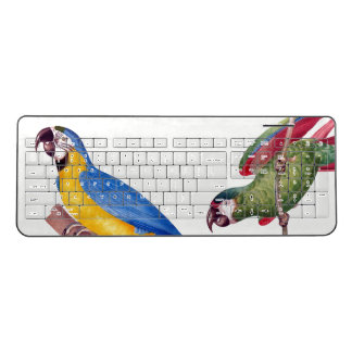 Macaw Parrot Birds Animal Wireless Keyboard