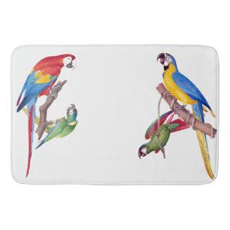 Macaw Parrot Birds Wildlife Animals Bath Mat