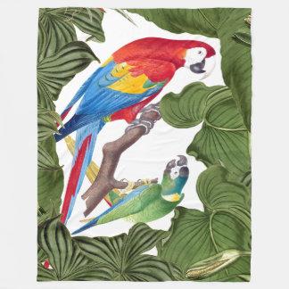 Macaw Parrot Birds Wildlife Animals Fleece Blanket