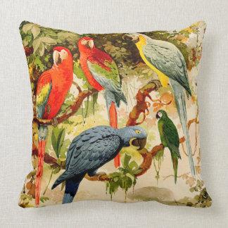 Macaw Parrot Birds Wildlife Animals Throw Pillow