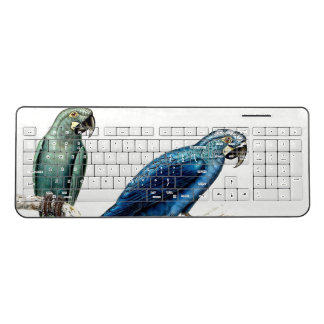 Macaw Parrot Birds Wildlife Wireless Keyboard