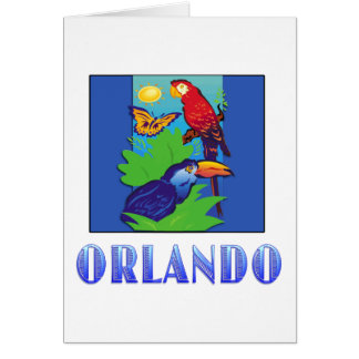 Macaw, Parrot, Butterfly & Jungle ORLANDO Card