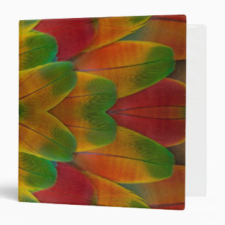 Macaw parrot feather kaleidoscope 3 ring binders