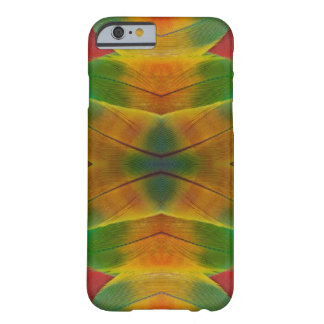 Macaw parrot feather kaleidoscope barely there iPhone 6 case