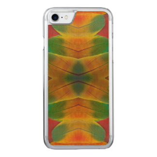 Macaw parrot feather kaleidoscope carved iPhone 7 case