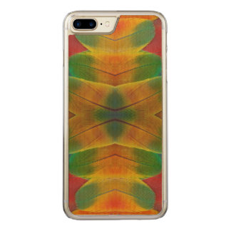 Macaw parrot feather kaleidoscope carved iPhone 8 plus/7 plus case