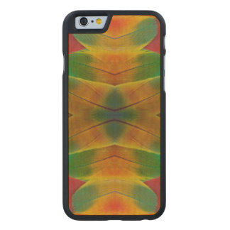Macaw parrot feather kaleidoscope carved® maple iPhone 6 case