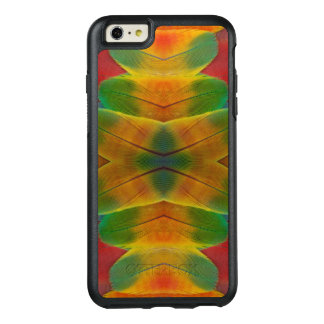 Macaw parrot feather kaleidoscope OtterBox iPhone 6/6s plus case