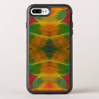 Macaw parrot feather kaleidoscope OtterBox symmetry iPhone 7 plus case