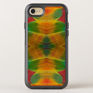 Macaw parrot feather kaleidoscope OtterBox symmetry iPhone 8/7 case