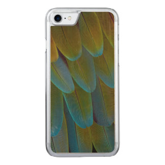 Macaw parrot feather pattern detail carved iPhone 7 case