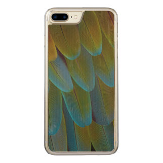 Macaw parrot feather pattern detail carved iPhone 7 plus case