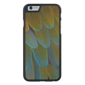 Macaw parrot feather pattern detail carved maple iPhone 6 case