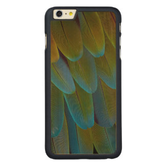 Macaw parrot feather pattern detail carved® maple iPhone 6 plus case
