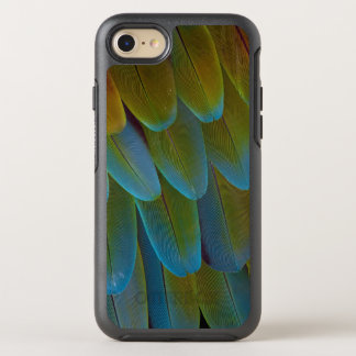 Macaw parrot feather pattern detail OtterBox symmetry iPhone 8/7 case
