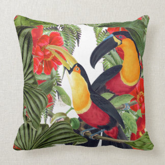 Macaw Parrot Toucan Birds Wildlife Throw Pillow