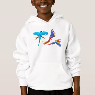 Macaw Parrots Kids Hooded Sweatshirt